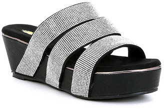 Volatile Women's Sandals BLACK - Black Nampa Wedge Sandal - Women