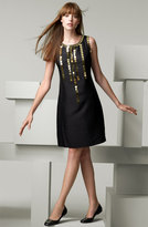 'Giles' Dress with Mirror Sequin Trim