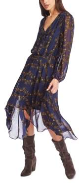 1 STATE 1.State 1.state Printed Handkerchief Midi Dress