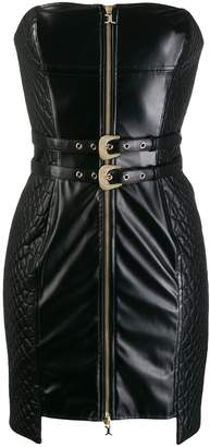 Just Cavalli quilted panel tube dress