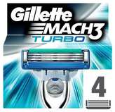 Gillette MACH3 Turbo Men s Razor Blades 4 Refills