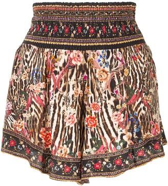Camilla Shirred Waist Shorts