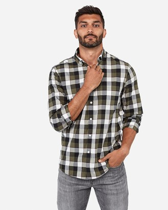 Express Classic Plaid Soft Wash Shirt