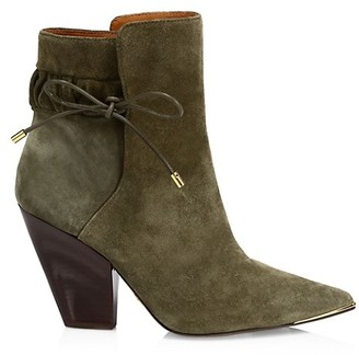 Tory Burch Lila Suede Scrunch Ankle Boots