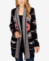 Lucky Brand Open-Front Shawl-Collar Cardigan