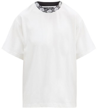 Acne Studios Eternal Face-logo Crew-neck T-shirt - White