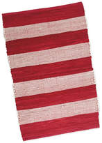 "Design Import Red/White Stripe Chindi Rug, 20""x31.5"""