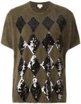 Giamba sequin embellished knit T-shirt