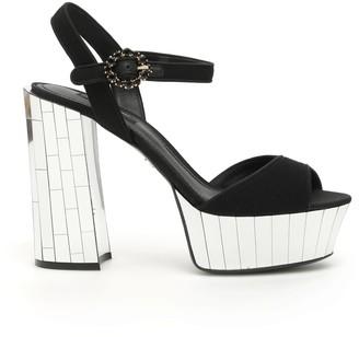 Dolce & Gabbana Keira Mirror Sandals