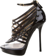 John Galliano Woven Leather Sandals