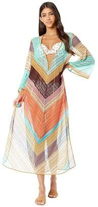 Missoni Mare Stripe Voile Long Cover-Up Dress (Multi) Women's Swimwear