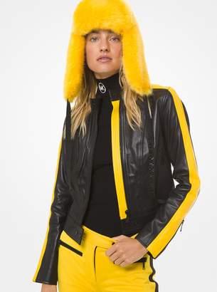 MICHAEL Michael Kors Color-Block Moto Leather Jacket