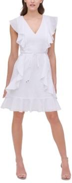 Tommy Hilfiger Flair-Dot Fit & Flare Dress