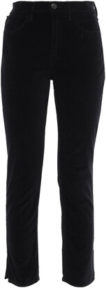 3x1 W3 Higher Ground Cropped Stretch-cotton Velvet Slim-leg Pants