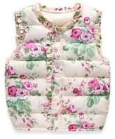 Jlong Baby Girls Floral Warm Vest Sleeveless Jacket Waistcoat Outerwear 2-7Y