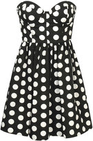 Mesh Hem Polka Dot Dress