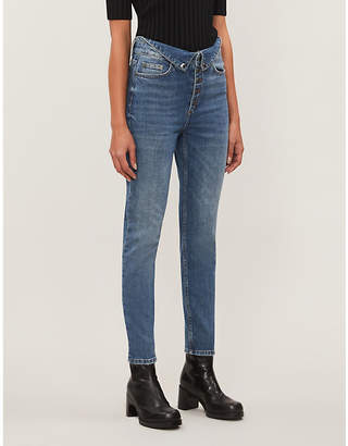 The Kooples Skinny cropped mid-rise jeans