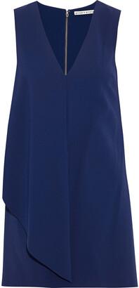 Alice + Olivia Bibi Draped Crepe Mini Dress