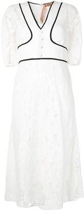 No.21 Lace Panel Dress