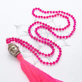 Charlotte's Web Jewellery Buddha Crystal Mala Tassel Necklace