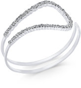 INC International Concepts Silver-Tone Pavé Open Loop Cuff Bracelet, Only at Macy's