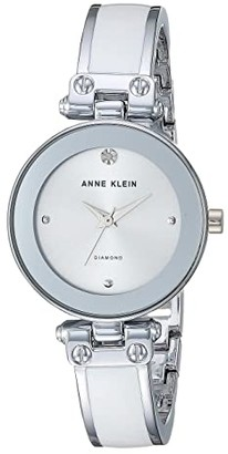 Anne Klein AK-1981WTSV (White/Silver-Tone) Watches