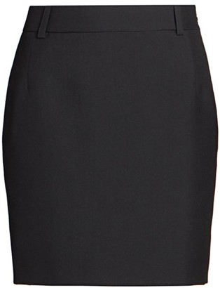 Balenciaga Fitted Wool-Blend Mini Skirt