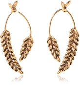 Aurelie Bidermann Wheat Gold Plated Earrings