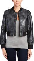 True Religion Leather Bomber Jacket