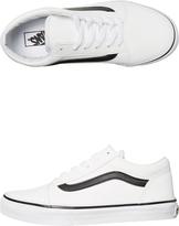Vans Kids Old Skool Leather Shoe White