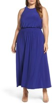 Vince Camuto Plus Size Women's Jersey Smocked Waist Maxi Dress