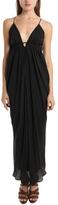 L'Agence Drape Braided Dress in Black