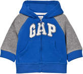 Gap Blue and Grey Raglan Hoodie