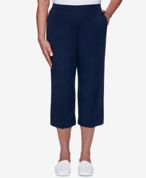 Alfred Dunner Petite Anchor's Away Cuffed Capri Pants