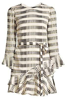 Saloni Women's Marissa Geometric-Print Mini Dress