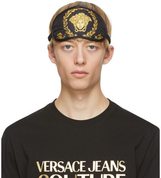 Versace Black and Gold Barocco Eye Mask