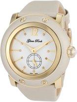 Glam Rock Women's GR10049 Miami Diamond Accented Beige Techno Silk Watch
