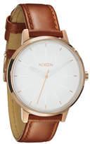 Nixon Kensington Leather Watch White