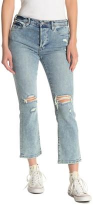Blanknyc Denim Madison Distressed Button Crop Jeans