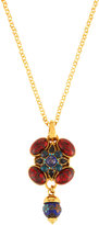Jose & Maria Barrera Multi-Jewel Long Pendant Necklace