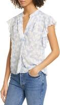 Joie Ashtina Floral Clip Dot Silk & Cotton Top