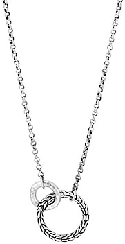 John Hardy Sterling Silver Classic Chain Interlocking Circle Station Necklace, 18