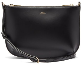 A.P.C. Sarah Leather Cross-body Bag - Womens - Black