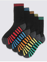 Marks and Spencer 5 Pairs of FreshfeetTM Sports Socks (3-16 Years)