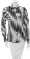 Michael Kors Striped Silk Top