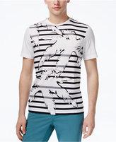 Michael Kors Men's Stripe Palm Graphic-Print T-Shirt