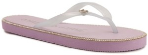 Juicy Couture Women's Sparks Flat Thong Sandal Women's Shoes