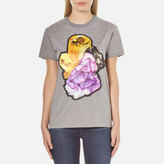 Carven Women's Printed TShirt - Grey