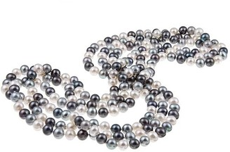 """DaVonna 7-8mm Multi Colored Freshwater Pearl Endless Necklace, 72"""""""