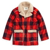 Hatley Boy's Faux Shearling Flannel Jacket